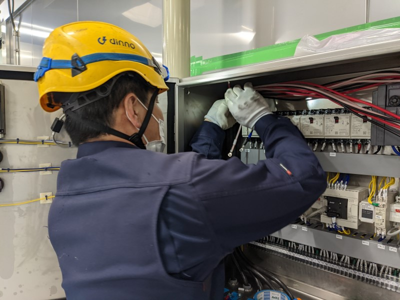 食品機械 電源工事